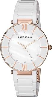 Anne Klein Women's AK/3266 Swarovski Crystal Accented Ceramic Bracelet Watch