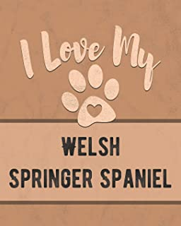 I Love My Welsh Springer Spaniel: Nice Book to Record Vet, Health, Medical, Vaccination Tracker and Journal for the Dog You Love