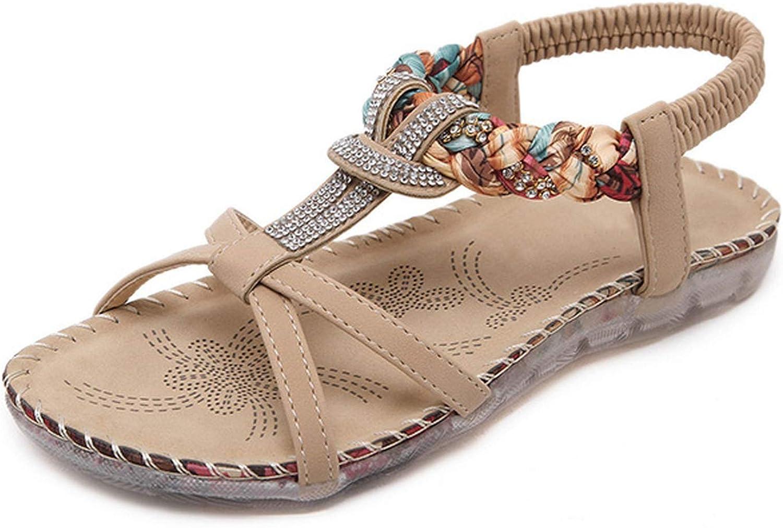 Women Sandals Floral Woman Flats Sandals Rhinestone Gladiator Sandal Women shoes Flip Flops