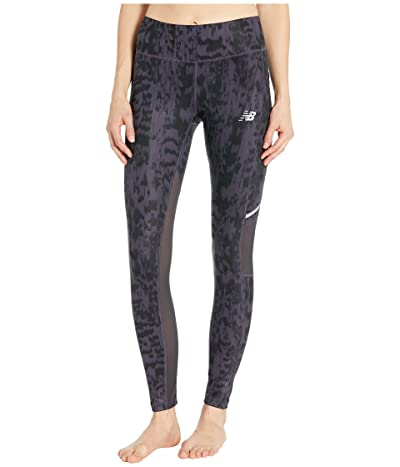 New Balance Printed Impact Tights (Iodine Violet) Women