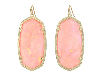 Kendra Scott Danielle Earrings (Gold/Iridscent Coral Illusion) Earring