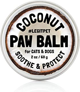 LEGITPET Dog Paw Balm Wax Soother & Moisturizer Cream with Natural Food-Grade Coconut Oil, Organic Shea Butter & Beeswax -...