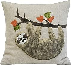 Comfy Hour Harvest Fur Sloth Accent Pillow Throw Pillow Decorative Cushion, 18x18