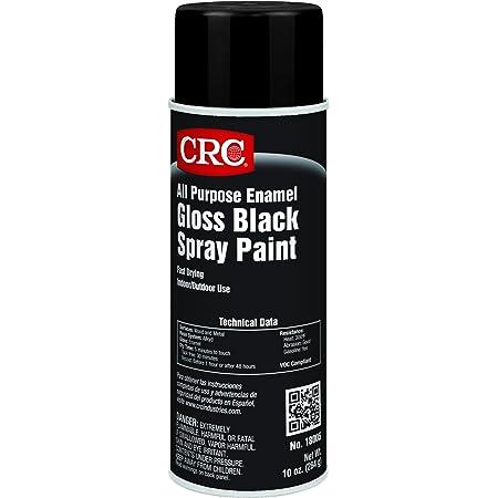 CRC All Purpose Enamel Spray Paint-Gloss Black, 10 Wt Oz, 18005
