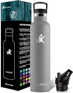 KollyKolla Drinkfles Roestvrij Staal, Vacuüm Geïsoleerde Waterfles - 350/500/600/750ml/1L, BPA-vrije Standaard Thermosfles...