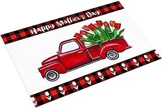 Nargar Mother's Day Decorative Mats for Front Door, Track Print Door Mats for Home Entrance, Non Slip Indoor Outdoor Doorm...