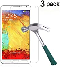 TANTEK Galaxy Note 3 Screen Protector, [Bubble-Free][HD-Clear][Anti-Scratch][Anti-Glare][Anti-Fingerprint] Premium Tempered Glass Screen Protector for Samsung Galaxy Note 3,-[3Pack]