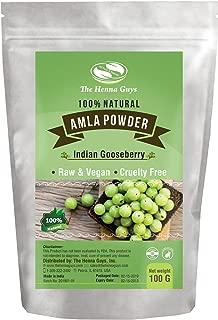 100 Grams Amla Powder/Indian Gooseberry - 100% Pure & Natural Amla, Food grade, Vegan & cruelty Free