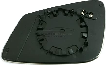 Ultimate Styling Aftermarket Replacement Heated Aspherical Chrome Wing Mirror Glass Drivers Side RH Non-Auto Dimming