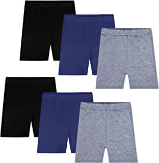 Auranso Toddler Boys Girls Cotton Shorts 2 Pack Kids Casual Shorts 2-7 Years