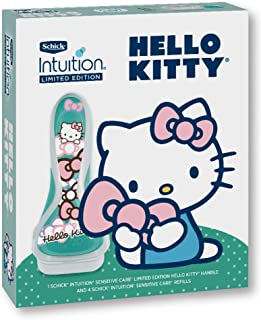 Schick Intuition Limited Edition Hello Kitty Sensitive Care Razor, Includes Handle and 4 Refills