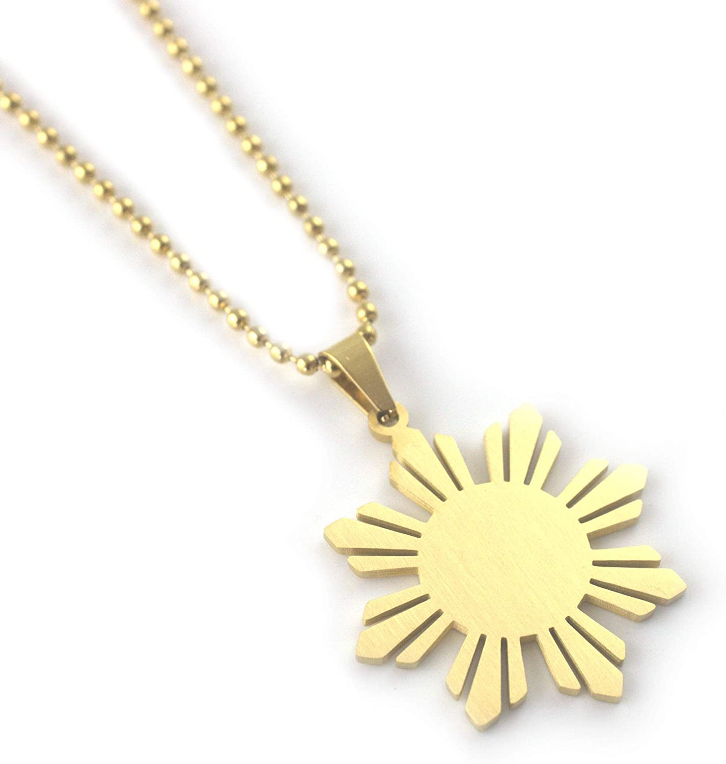 Sunkissed Pinay Philippines Sun Necklace for Men Filipino Pride Jewelry Pinoy Fashion