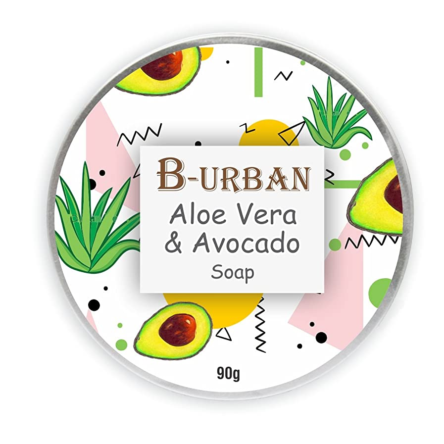 私たちの昆虫を見る突き出すB-Urban Aloe Vera And Avocado Soap Made With Natural And Organic Ingredients. Paraben And Sulphate Free. Moisturizing,Anti Bacterial And Anti Fungal Soap