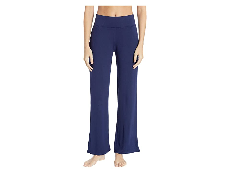 N by Natori Nlightened Brushed Jersey Pants (Midnight Navy) Women