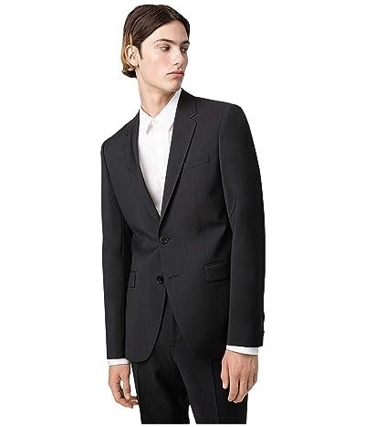 BOSS Hugo Boss Aldons Extra-Slim Fit Wool Jacket By HUGO (Dark Gray) Men