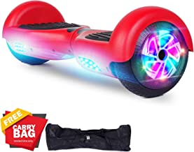 "FLYING-ANT Hoverboard 6.5"" Two-Wheel Self Balancing Hoverboard with LED Light Flash Lights Wheels for Kids Adult"