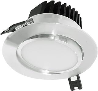 ZEYUN foco empotrable empotrable LED de , 5W, ángulo de haz de 120 ° Aluminio blanco cálido giratorio 3000K