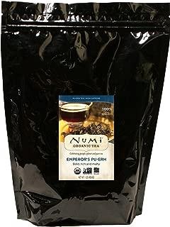 Numi Organic Tea Emperor's Pu-erh, 16 Ounce Pouch, Loose Leaf Black Tea (Packaging May Vary)