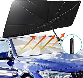BITIANTEAM Car Sun Shade for Windshield UV Rays Foldable Umbrella Heat Sun Visor Protector Foldable Reflector (55'' x 31'')