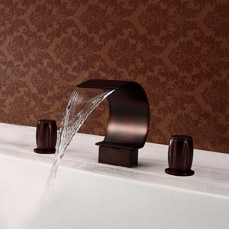 BMY Mode Retro Wasserhahn Deck Berg Wasserfall Waschtischmischer