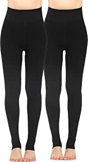 iLoveSIA 2 Packs Women's Thick Faux Fur Lined Thermal Legging Pant