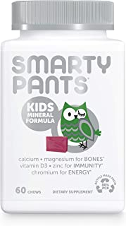 SmartyPants Kids Mineral Daily Gummy Multivitamin: Vitamin C, D3 & Zinc for Immunity, Gluten Free, Vitamin E, Calcium for ...