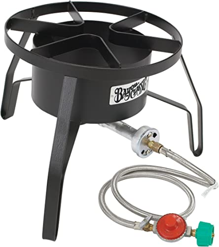 """Bayou Classic High Pressure Cooker, 14"""" wide, 10 psi SP10 Cooker,Black,18″ x 18″ x 13″. Weight: 13.8lbs."""