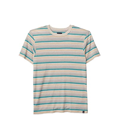 Prana Dustin Short Sleeve Crew (Pebble Grey) Men