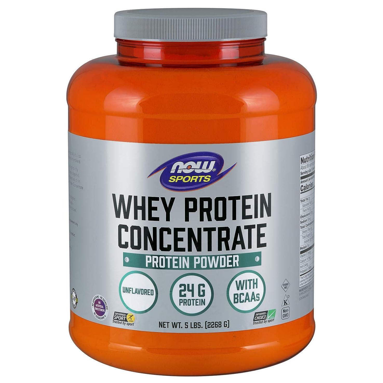 ホステス聴衆スキニー[海外直送品] ナウフーズ  Whey Protein Concentrate Natural Unflavored 5 lbs (2268 g)