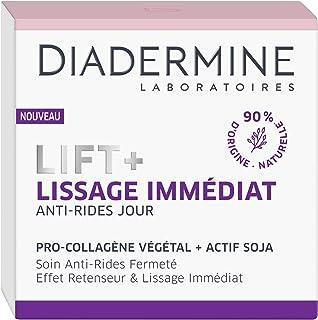Diadermine - Lift+ Lissage Immédiat - Crème de Jour Visage Anti-Rides Ultra Tenseur - Soin Fermeté - Pro-Collagène végétal...