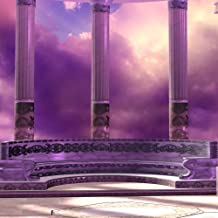 GladsBuy Romantic Purple 6' x 6' Computer Printed Photography Backdrop Arches or Pillars Theme Background ZJZ-331
