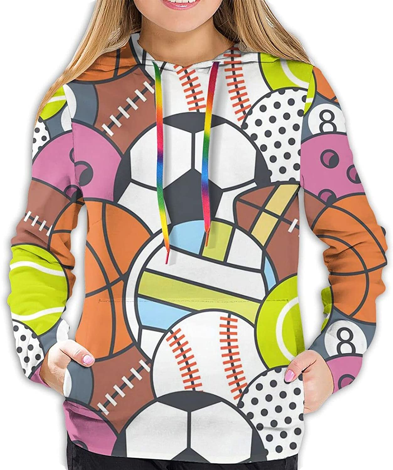 Max 44% OFF Stylish Max 75% OFF Ball games 3 Women Hoodie Print Playing 3D Swe Graphic