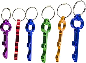 Hy-Ko Keychain Bottle Opener Skeleton Key Design Beer Opener (Pack with 6)