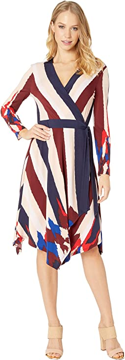 Isabella Asymmetric Wrap Dress