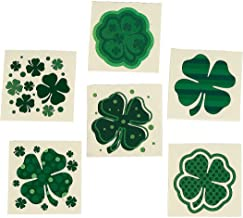 Fun Express - Shamrock Patterned Tattoos for St. Patrick's Day - Apparel Accessories - Temporary Tattoos - Regular Tattoos - St. Patrick's Day - 72 Pieces