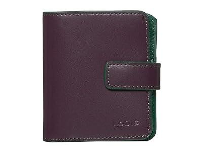 Lodis Accessories Audrey RFID Card Case Petite Wallet (Deep Plum/Ivy) Bi-fold Wallet
