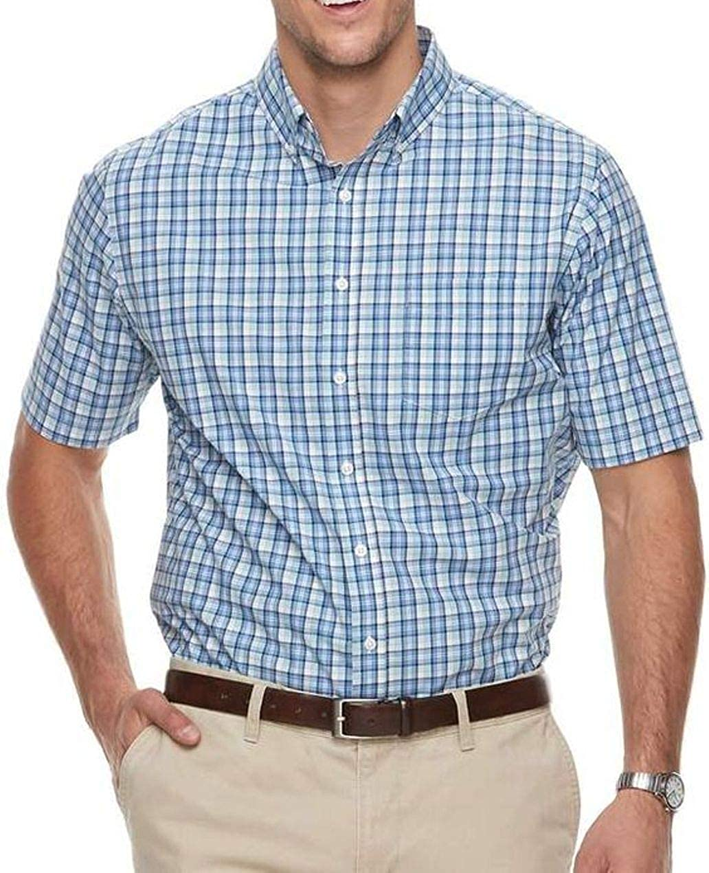 Croft & Barrow Mens Classic Fit Short Sleeve Button-Down Casual Shirt Sizes