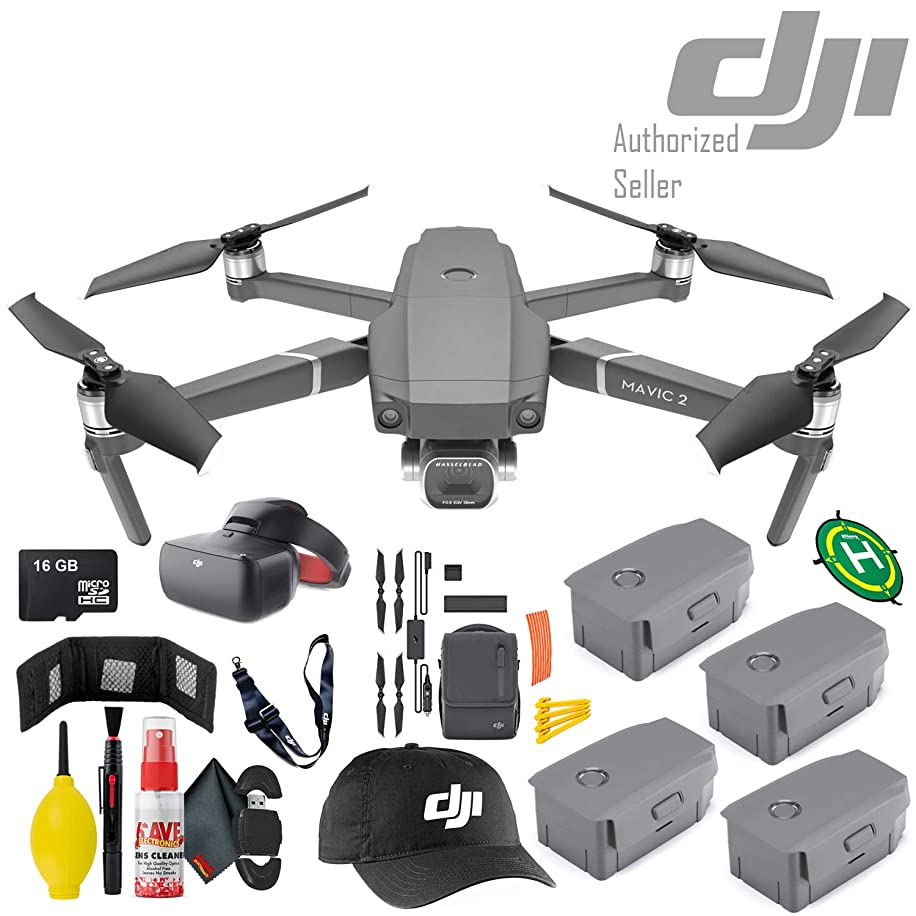 DJI Mavic 2 Pro - Intelligent Flight Battery x2 - Goggles Racing Edition - Fly More Kit - 16GB Micro SD and More