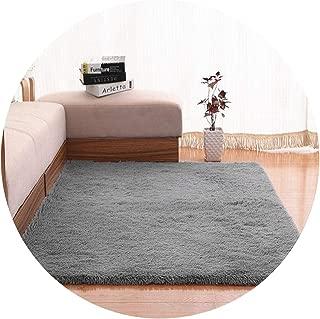 Show-Show-Fashion Shop&Plush Fabric Anti-Slip Mat Thick Floor Carpets for Living Room Plain Color Bathroom Water Absorption Floor Rug Mat Cuatom Size,Gray,50X80cm
