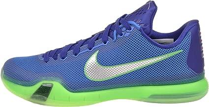 Nike Mens Kobe X, SOAR/ METALLIC SILVER-DEEP ROYAL BLUE-GREEN SHOCK, 10 M US