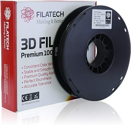 Filatech PLA Filament, Black, 1.75mm, 0.5 Kg, Made in UAE