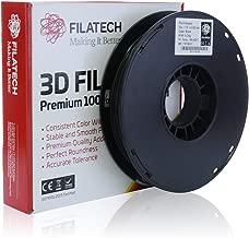 Filatech 3D Printing PLA Filament, 1.75 mm +/- 0.03 mm, 0.5 Kg Spool, 100% Virgin Material, Made in UAE Black Pl110