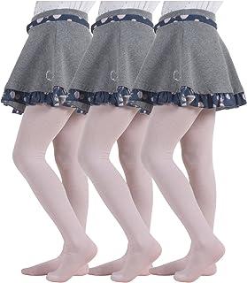 CALZITALY 3 Paar von Mädchen Strumpfhose aus Baumwolle | Kinder Blickdichte Strupfhosen | Vielfarbig | 4-14 Jahre | 70 DEN | Made in Italy