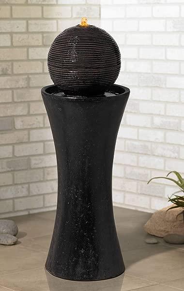 John Timberland Dark Sphere Pillar 35 1 2 High Floor Fountain