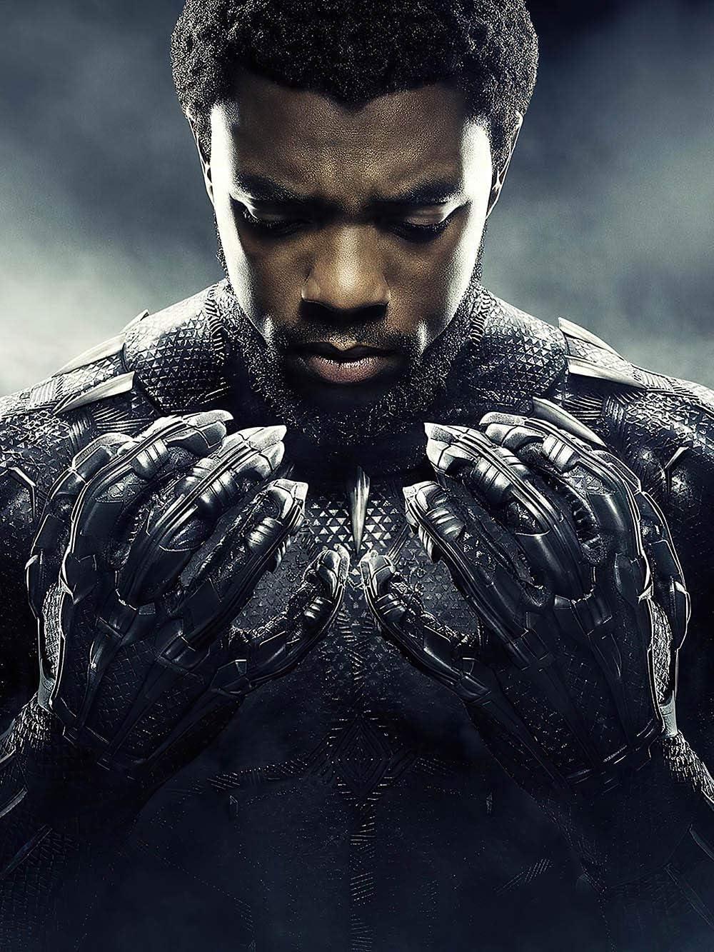 Superhero Ranking integrated 1st place Ranking TOP11 Black Panther Chadwick Boseman Canvas HD posters Print
