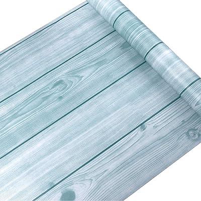 Jaamso Royals Wood Peel and Stick Wallpaper Vintage Wood Panel Wood Plank Wallpaper Contact Paper for Livingroom Bedroom Kitchen Bathroom (200 * 45 cm)