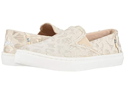 TOMS Kids Luca (Little Kid/Big Kid) (Rose Gold Metallic Woven Cheetah) Girl