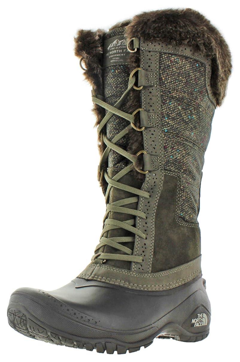 性能落胆させる一族[THE NORTH FACE] Women's Shellista Ii Tall Weimaraner Brown/Dove Grey Mid-Calf Snow Boot - 7.5M