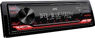 JVC KD X272DBT USB Autoradio mit DAB+ und Bluetooth Freisprecheinrichtung (Soundprozessor, USB, AUX In, Spotify Control (Android), 4 x 50 Watt, rote Tastenbeleuchtung, DAB+ Antenne*)