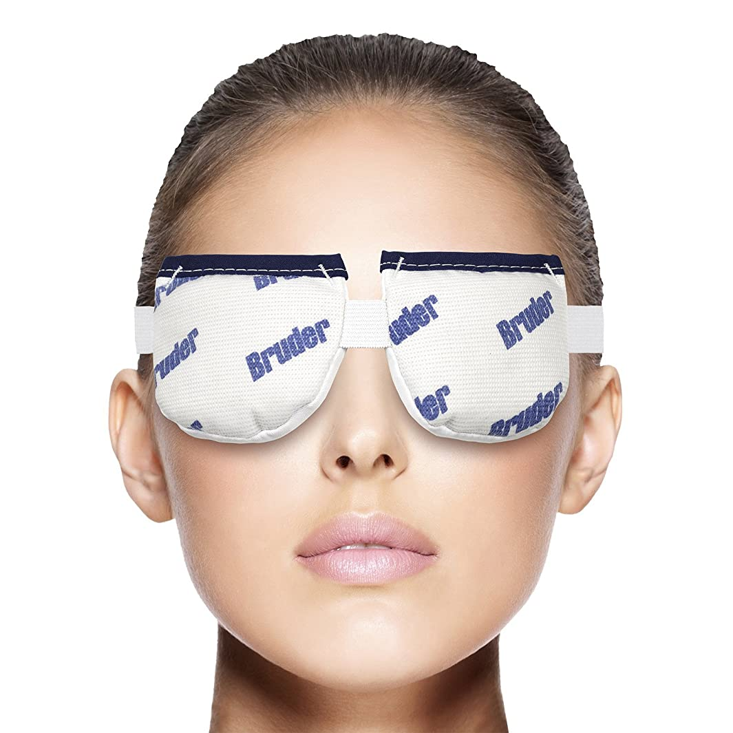 Bruder Moist Heat Eye Compress | Microwave Activated. Relieves Dry Eye, Styes, Meibomian Gland Dysfunction | #1 Doctor Recommended Professional Model